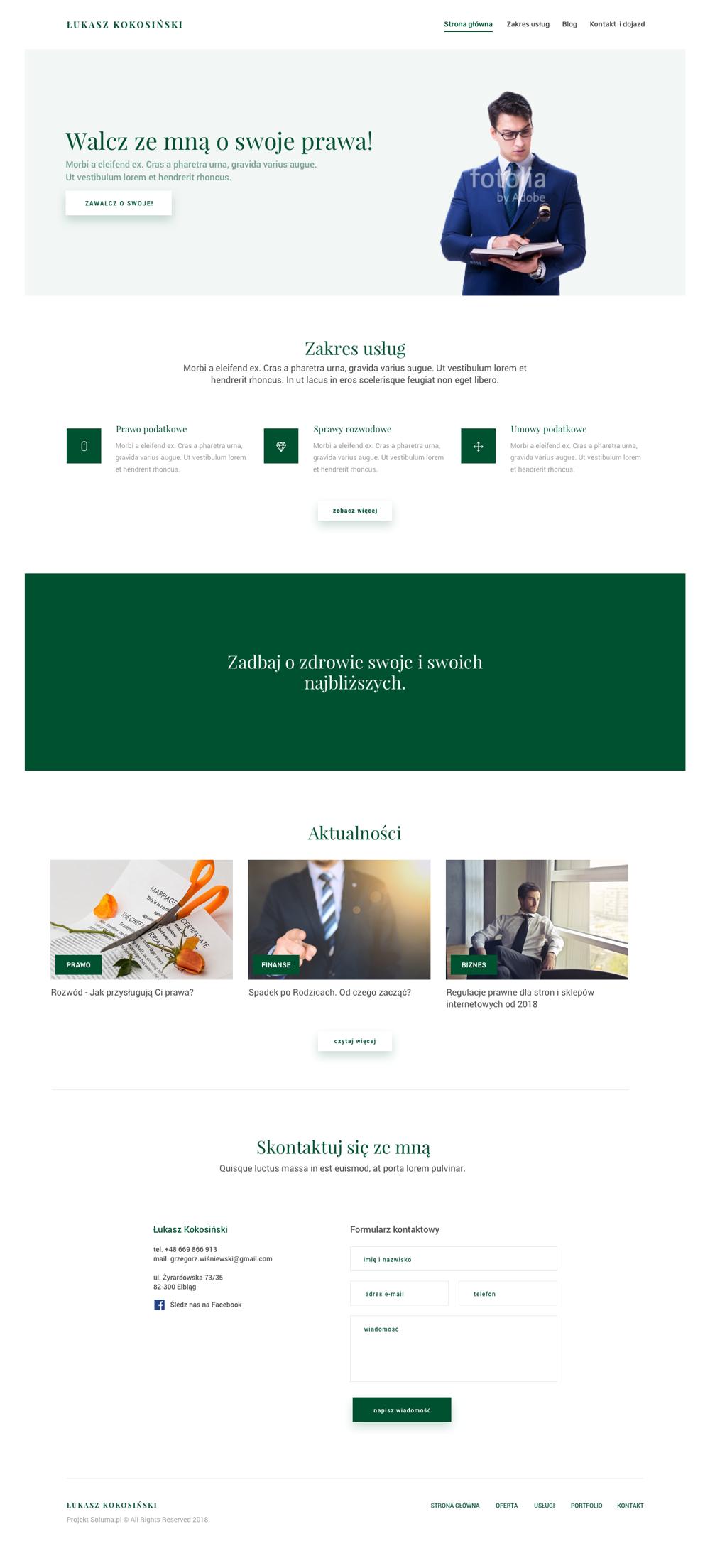 strona www projekt