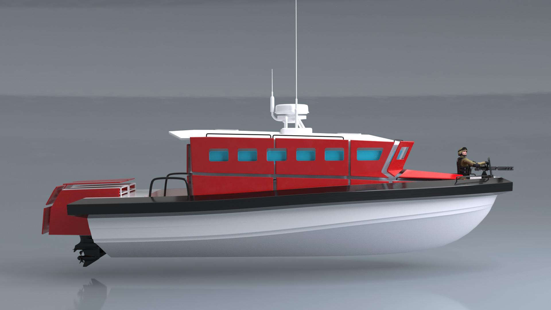 projekt 3 d łodzi