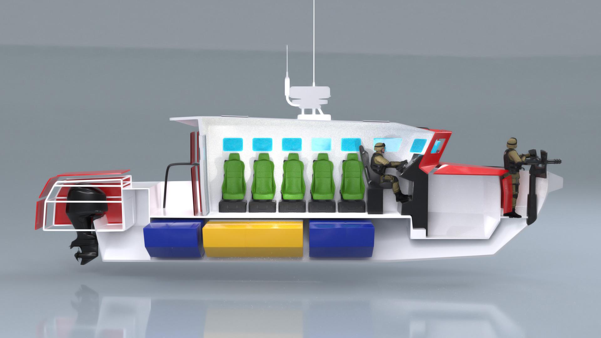 projekt 3d łódź